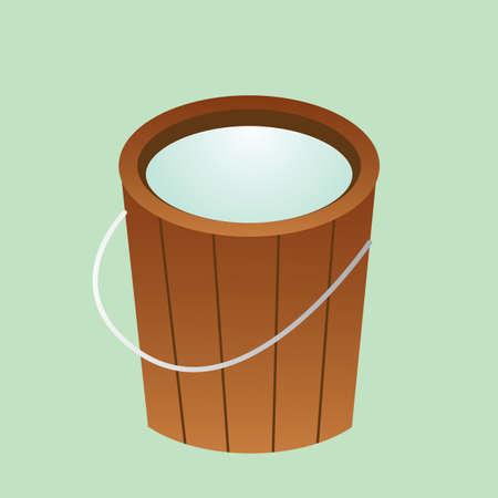 seau d eau: seau d'eau Illustration