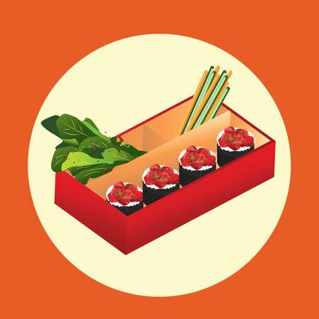 bento box: sushi in the bento box