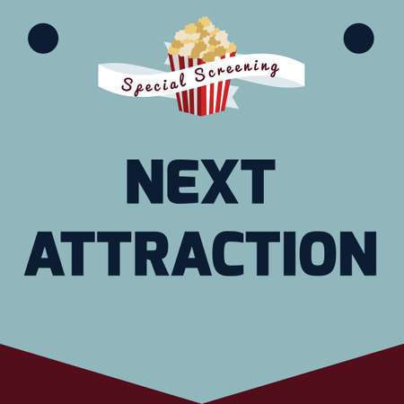 upcoming: next attraction poster