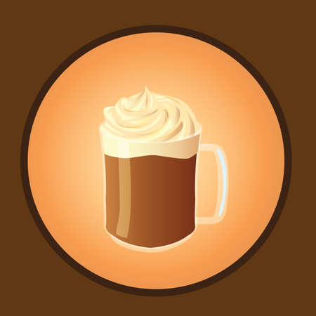 whipped cream: hot chocolate with whipped cream
