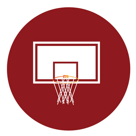 backboard: basketball hoop and backboard Illustration