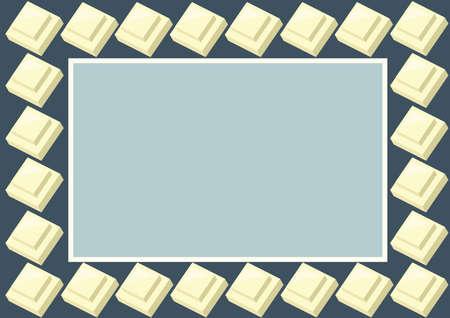 white chocolate: white chocolate frame