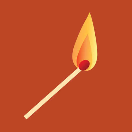 burning: burning match stick Illustration
