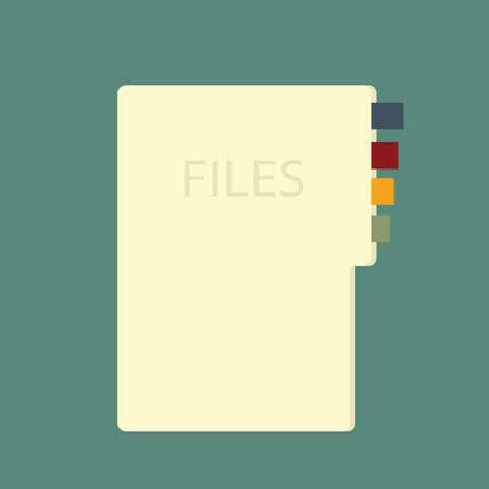 filing: folder Illustration
