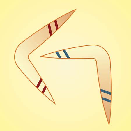 wooden boomerang: boomerangs Illustration