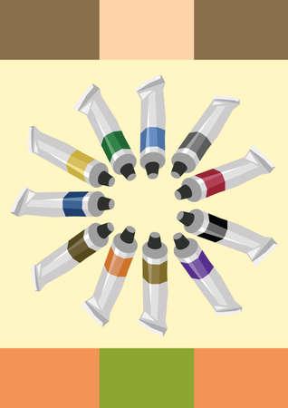 tubes: paint tubes Illustration