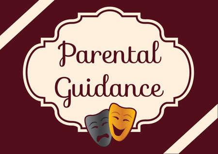 parental: parental guidance label Illustration