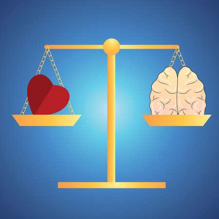 Herz und Geist-Balance-Konzept Vektorgrafik