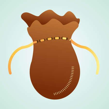 pouch: money pouch Illustration
