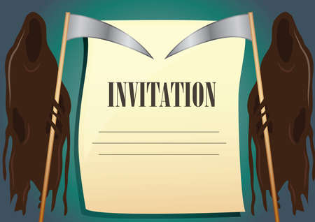grim: grim reaper invitation background Illustration
