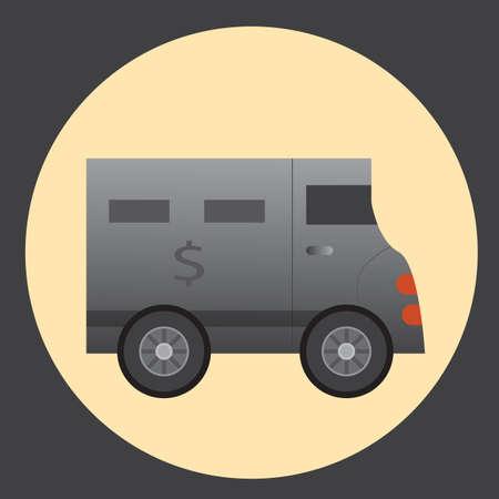 armoured: security van
