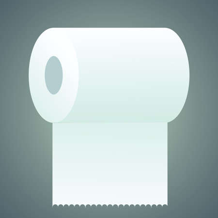 wiping: toilet paper roll