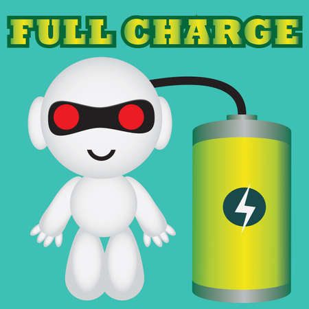 fully: robot fully charged