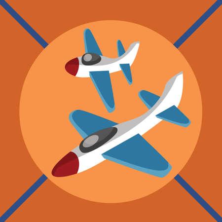 toy plane: toy plane Illustration