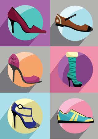 womans: womans shoe collection Illustration