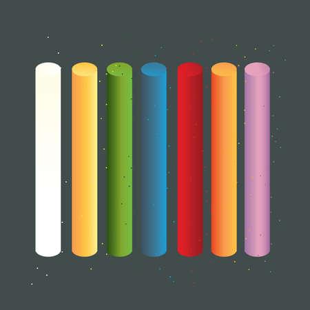 multi colors: multi-coloured chalks