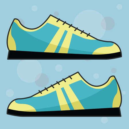 footgear: mans shoe Illustration