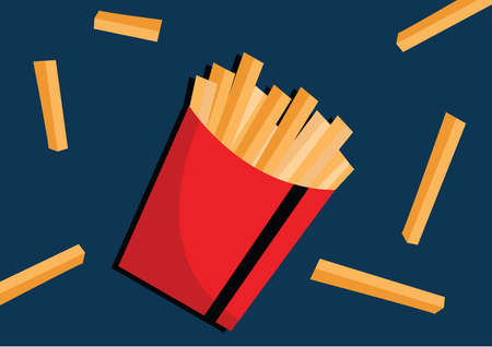 junkfood: french fries Illustration
