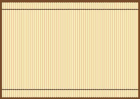 mat: bamboo mat background Illustration
