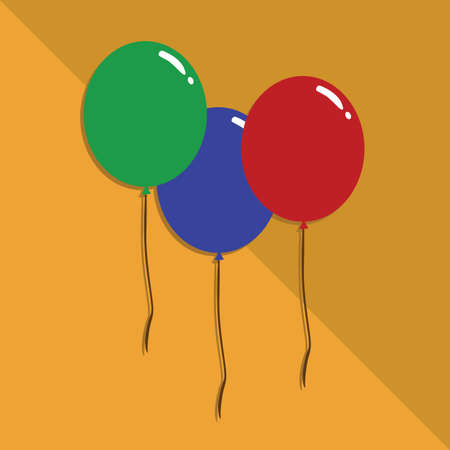 strings: balloons with strings Illustration
