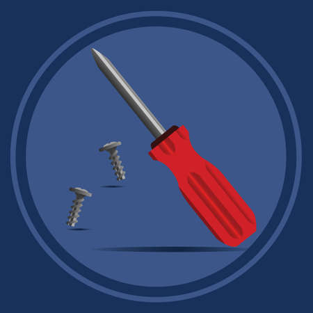 tornillos: destornillador con tornillos
