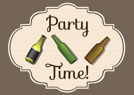 party time: party time card Illustration