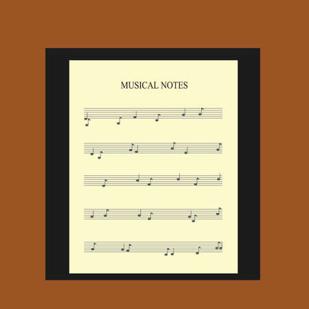 tunes: musical notes Illustration