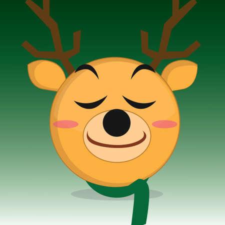 blushing: blushing reindeer Illustration