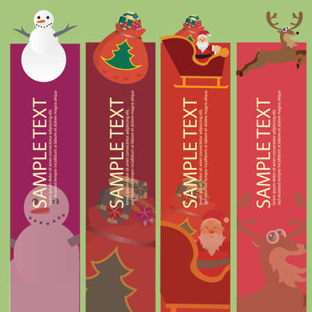 themed: christmas themed banners Illustration