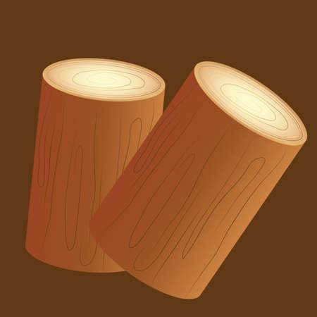 woodpile: wooden logs