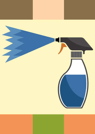 paint container: spray bottle Illustration