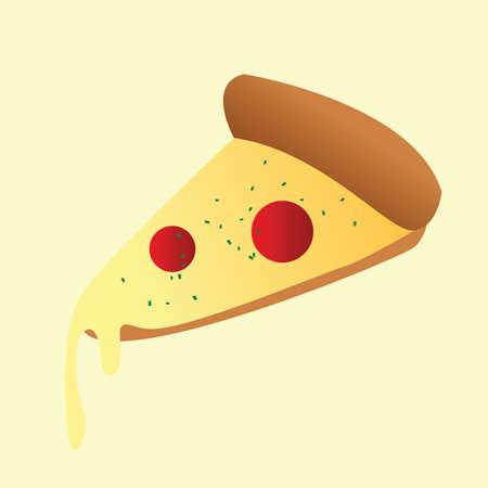 binge: pizza slice Illustration