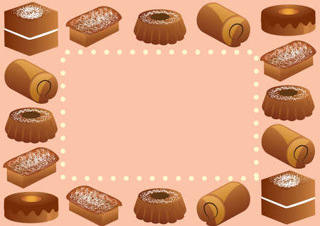 cake background: cake background design Illustration