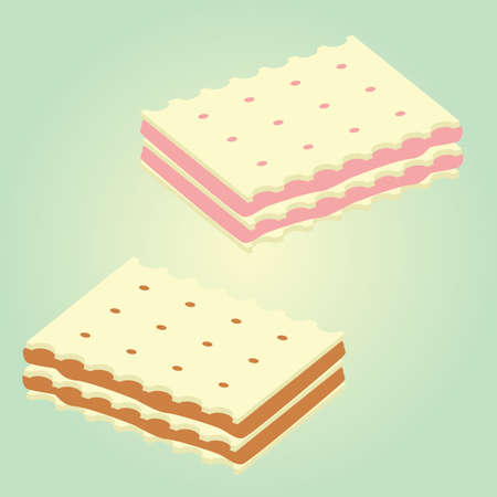 biscuit: wafer biscuit