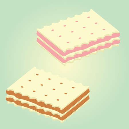 crisp: wafer biscuit
