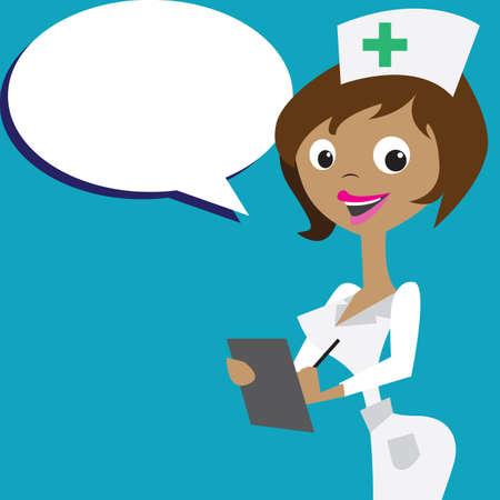 nurse clipboard: nurse with clipboard