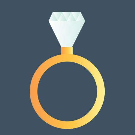 carats: diamond ring Illustration