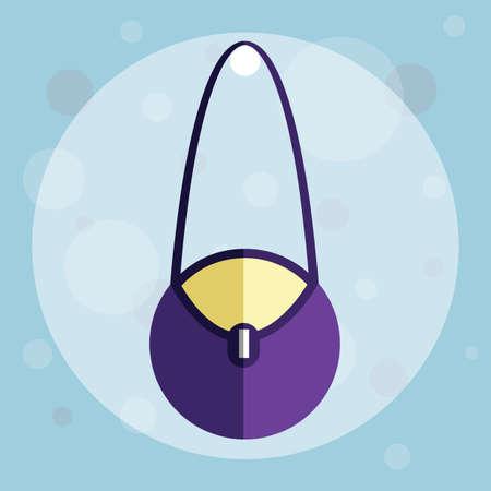 handbag: handbag on circle background Illustration