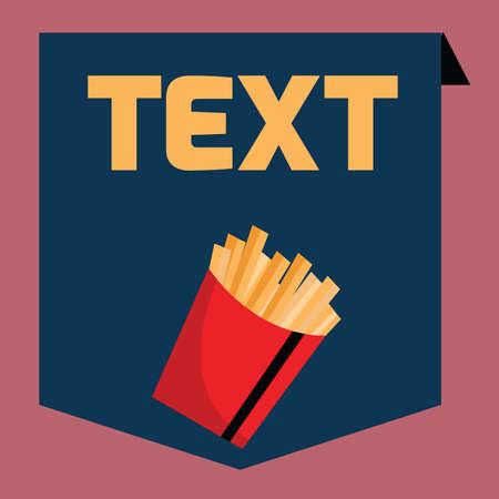 potato fries: potato fries banner Illustration