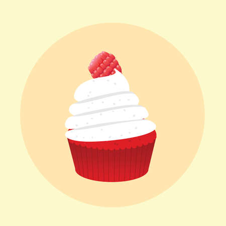 cranberry: cupcake with cranberry topping