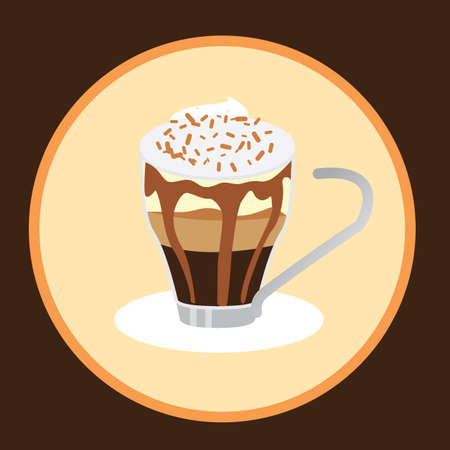 whipped cream: cup of coffee with whipped cream