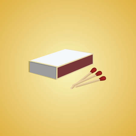 box of matches: matchbox with sticks