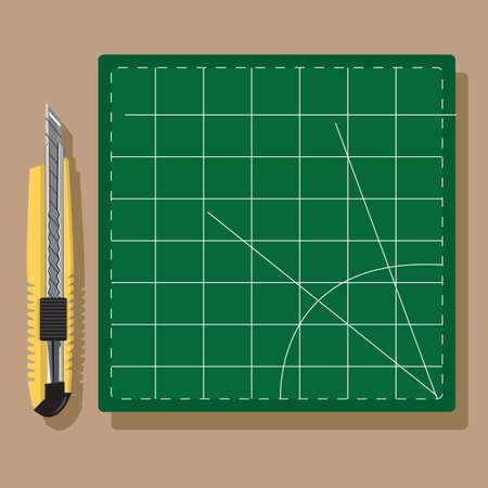 cutting: cutting knife with graph paper
