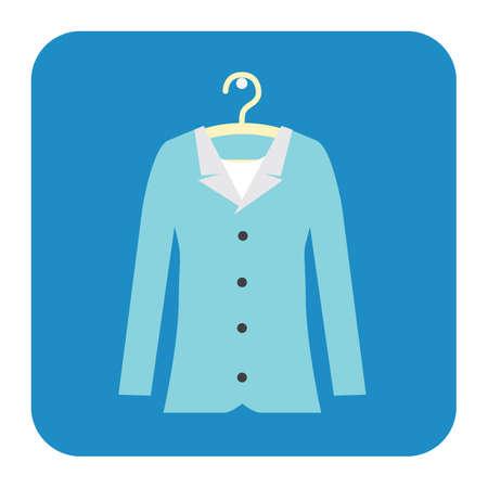 blue dress: blue dress on hanger Illustration