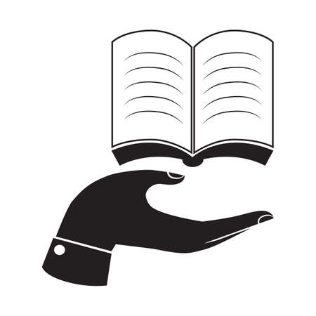 novel: hand with a book