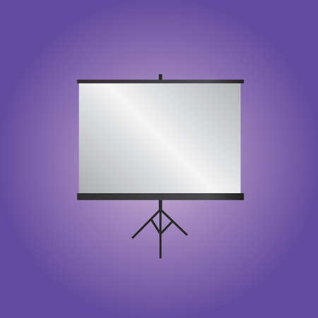 tripod projector: projector screen with tripod Illustration