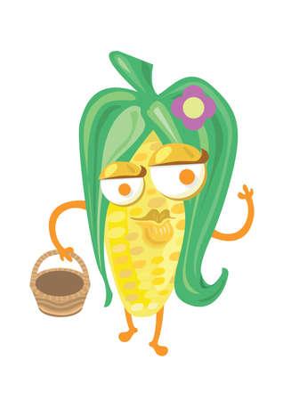 corn flower: corn holding basket