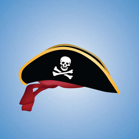 skull with crossed bones: pirate hat