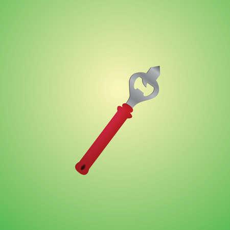 bottle cap opener: bottle cap opener Illustration