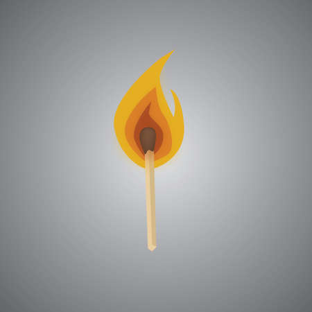 igniting: matchstick with fire